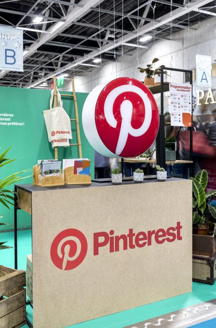 Label Experience : accueil du stand Pinterest au salon Création & Savoir-faire