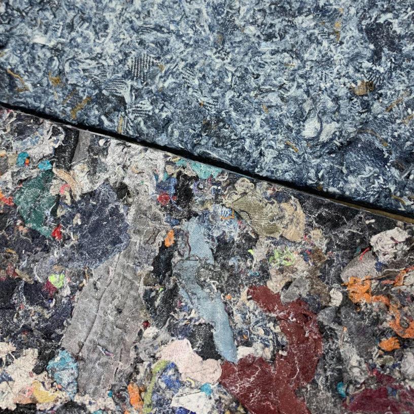 Label Experience : briques recyclées à partir de déchets textiles de la marque FabBRICK