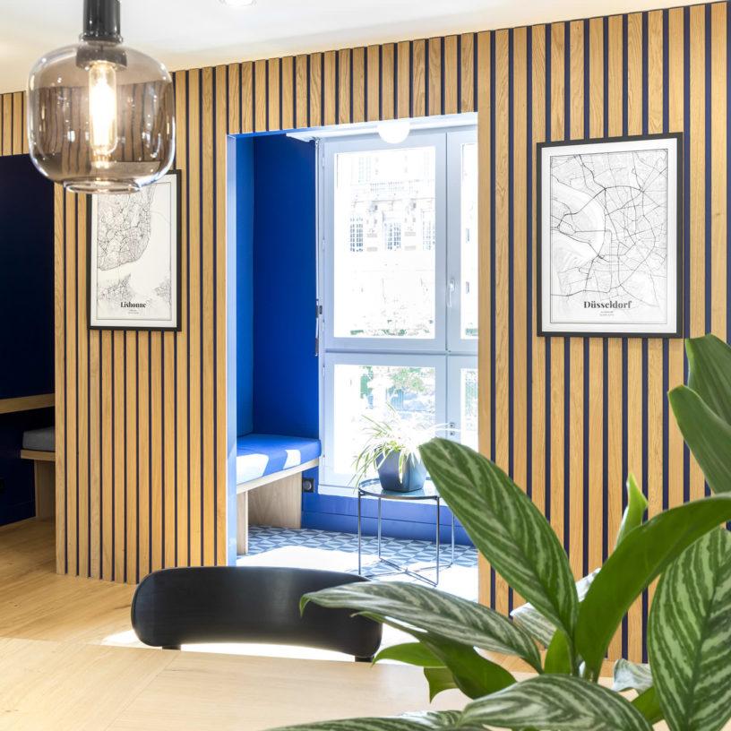 Label Experience: Espace intérieur des bureaux de « Alter Solutions » à Versailles.
