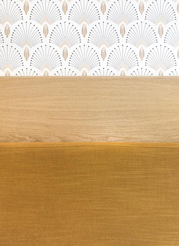 Label Experience: Focus bois et papier peint des bureaux de « Alter Solutions » à Versailles.