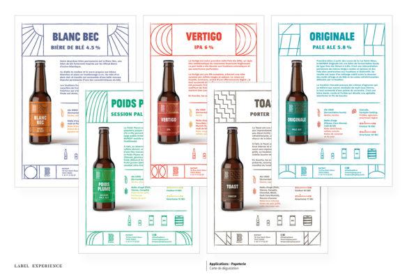 Label Experience: Présentation graphique et écrite de chaque bière servie au bar « BAP BAP » à Paris