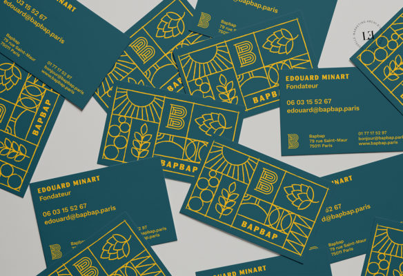 Label Experience: Carte de visite du bar « BAP BAP » à Paris