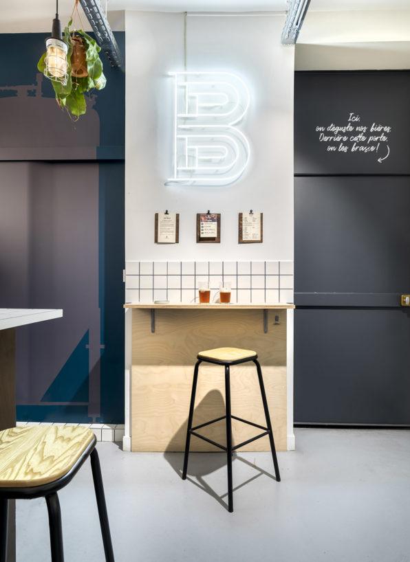 """Label Experience: Image 3D d'un coin """"bar solitaire"""" au bar « BAP BAP » à Paris"""