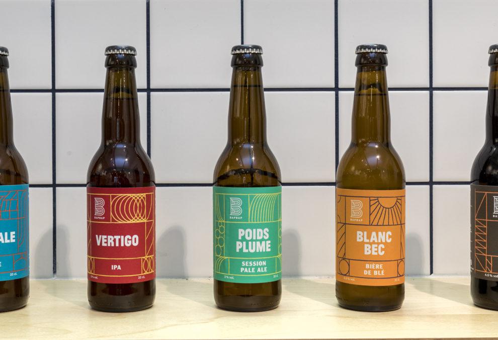 Label Experience: Trois bières rouge, verte et orange du bar « BAP BAP » à Paris