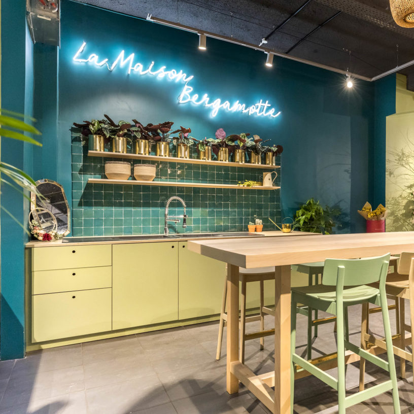 Label Experience: Prisse de vue d'un des espaces de la « Maison Bergamotte » à Paris.