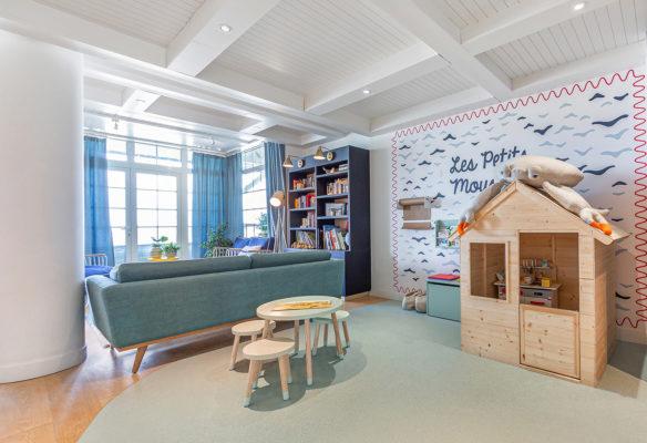 Label Experience : espace enfants dans le hall d'accueil du Pierre & Vacances au Crotoy