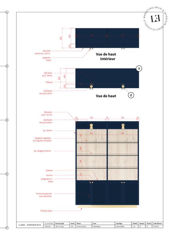 Label Experience : schéma de la bibliothèque présente dans le hall d'accueil du Pierre & Vacances au Crotoy