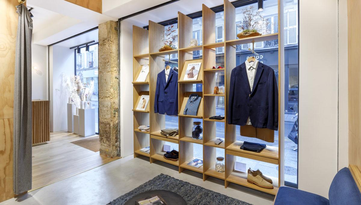 Label Experience: Point de vue sur deux pièces de la boutique « Bonne Gueule » à Paris.