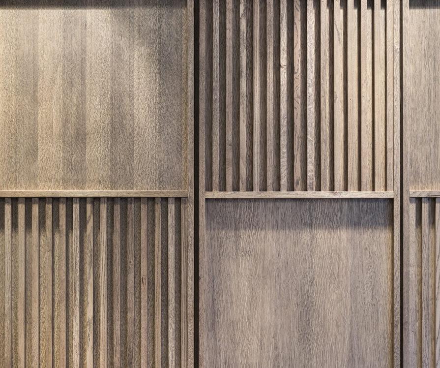 Label Experience: Focus sur bois de la boutique « Bonne Gueule » à Paris.