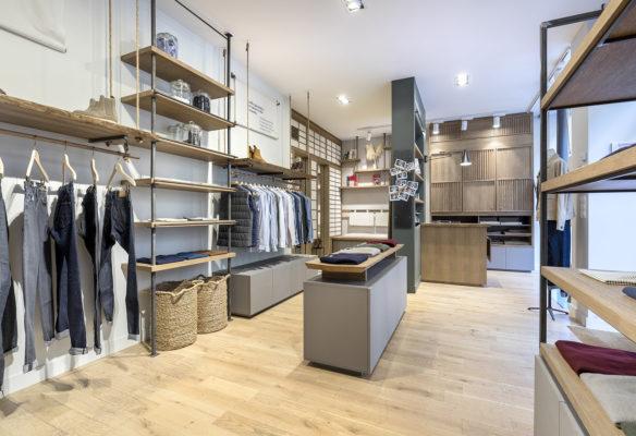Label Expérience: Point de vue globale de la boutique « Bonne Gueule » à Paris.