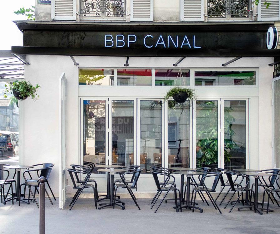 Label Experience : façade extérieur du bar à bière artisanale Brussels Beer Project Canal