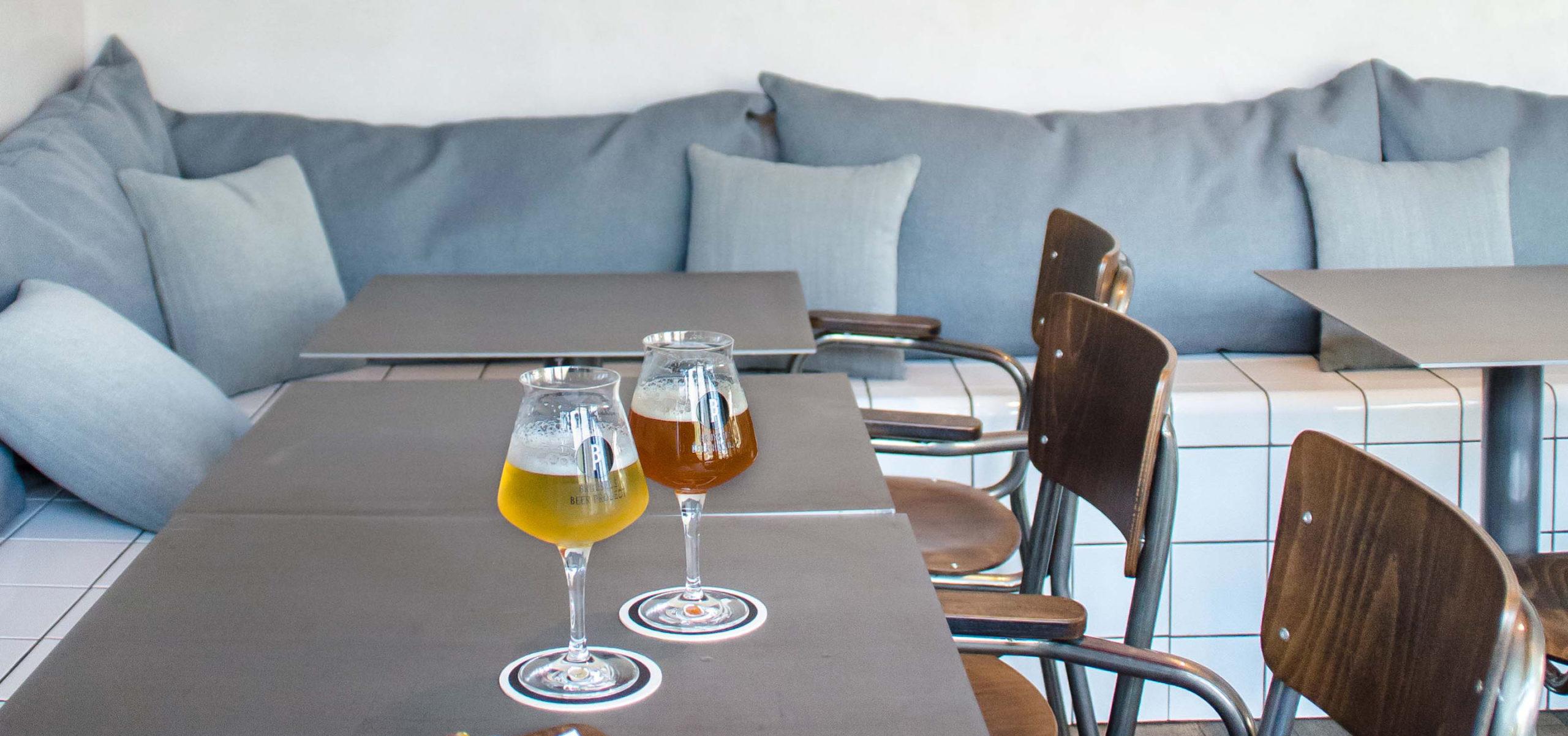 Label Experience : mise en scène des bières artisanales Brussels Beer Project dans le bar au Canal