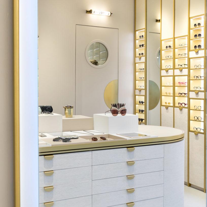 Label Experience : focus sur l'îlot central dans la boutique Carlotti à Paris dans le Marais