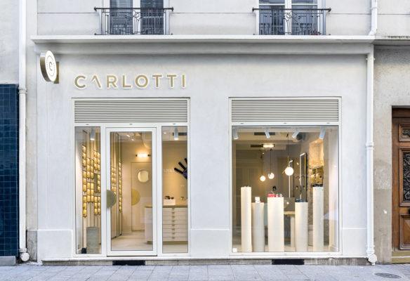 Label Experience : façade extérieur de la boutique Carlotti à Paris dans le Marais
