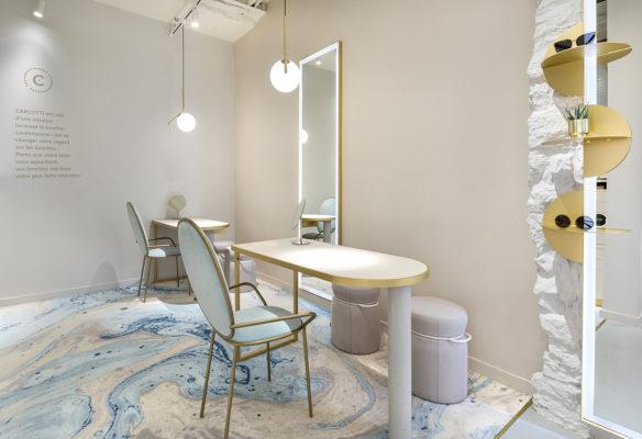 Label Experience : espace consultation dans la boutique Carlotti à Paris dans le Marais