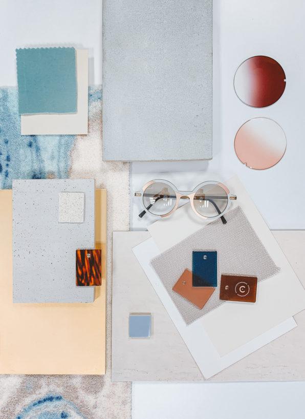 Label Experience : planche matières et matériaux utilisée pour la boutique Carlotti à Paris dans le Marais