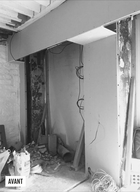 Label Experience : chantier de construction de la boutique Carlotti à Paris dans le Marais