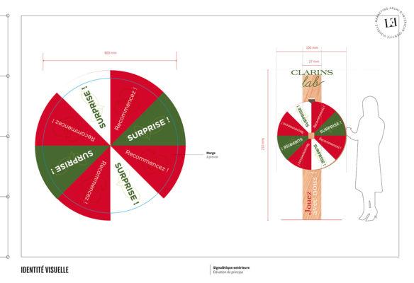 Label Experience : document d'exe de la roulette surprise du pop-up Clarins