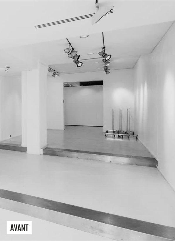 Label Experience : photo du chantier de construction du pop-up Clarins Lab à Paris
