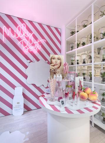 Label Experience : focus sur l'espace nouveautés dans le pop-up Clarins Lab à Paris