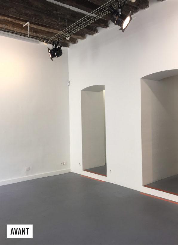 Label Experience: Image de l'espace avant la création du pop-up « émoi émoi » à Paris.