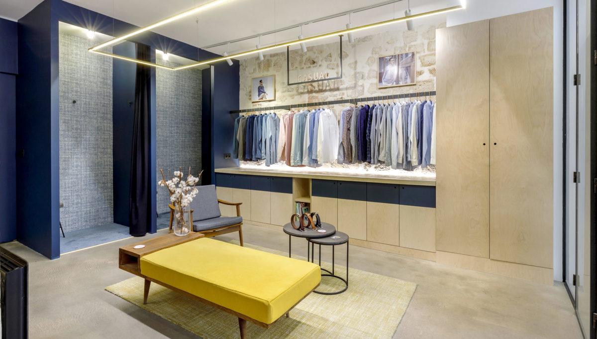 Label Experience: Espace cabines d'essayage de la boutique « Hast » rue d'Aboukir à Paris.