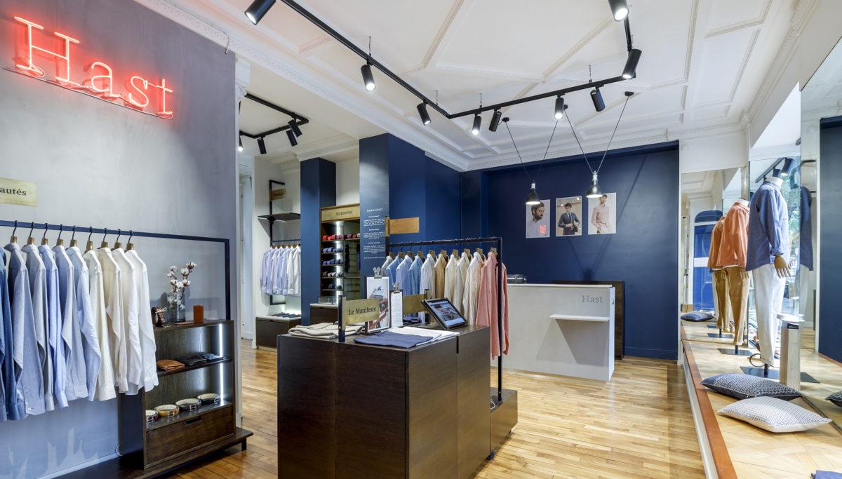 Label Expérience: Vue globale de la boutique parisienne « Hast » aux Batignolles.