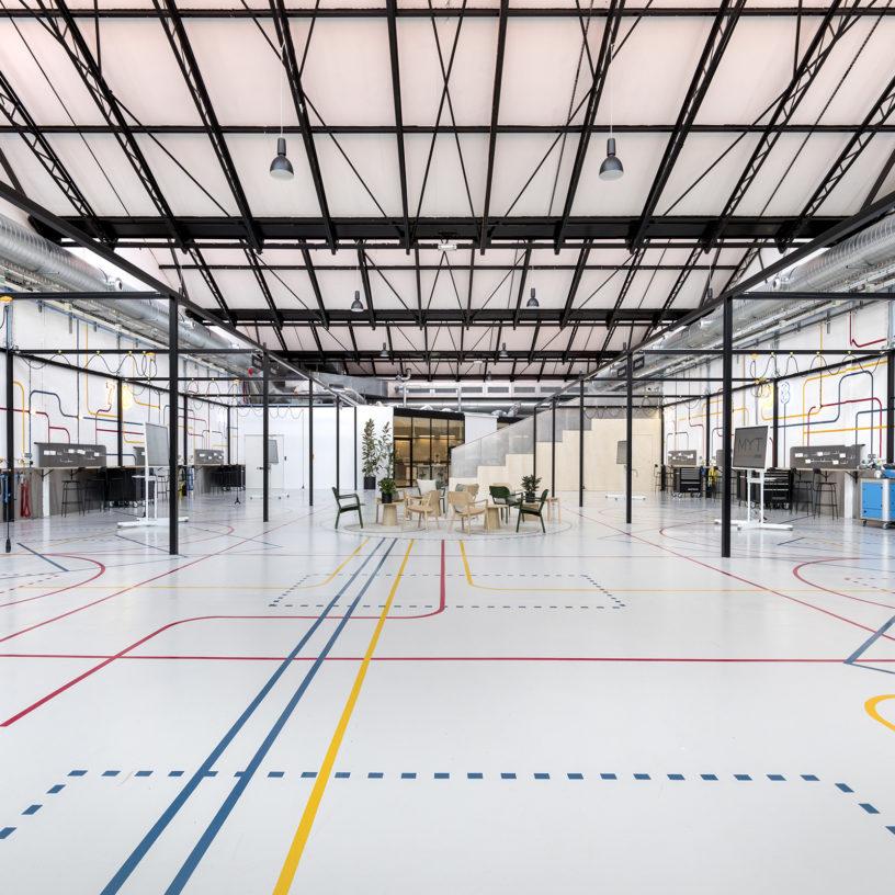 Label Experience : vue globale du L'Oréal MYT le lab d'innovation & incubateur d'entreprise à Aulnay-sous-bois