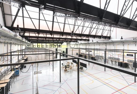 Label Experience : vue globale des ateliers d'innovation du L'Oréal MYT incubateur d'entreprise à Aulnay-sous-bois