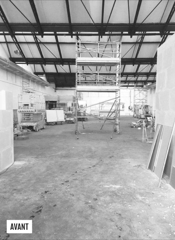 Label Experience : échafaudage chantier de construction du L'Oréal MYT