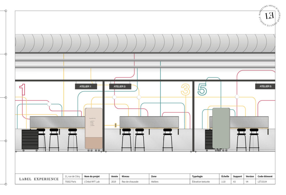 Label Experience : coupe architecturale du L'Oréal MYT