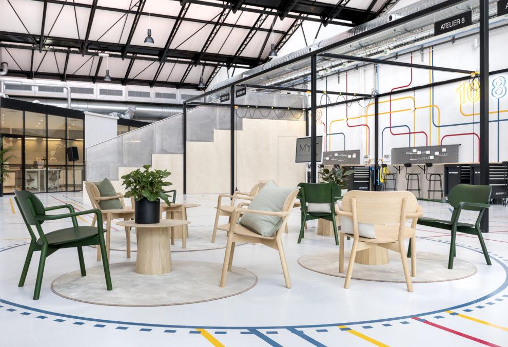 Label Experience : espace détente du L'Oréal MYT le lab d'innovation à Aulnay-sous-bois