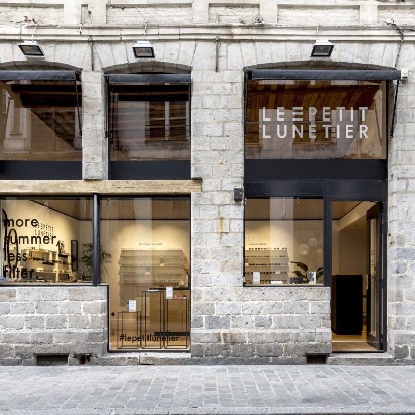 Label Experience : devanture de la boutique de lunettes Le Petit Lunetier à Lille.