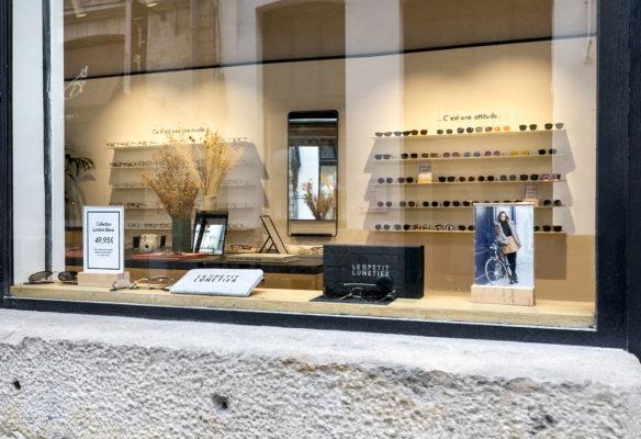 Label Experience : vitrine de la boutique de lunettes Le Petit Lunetier à Lille