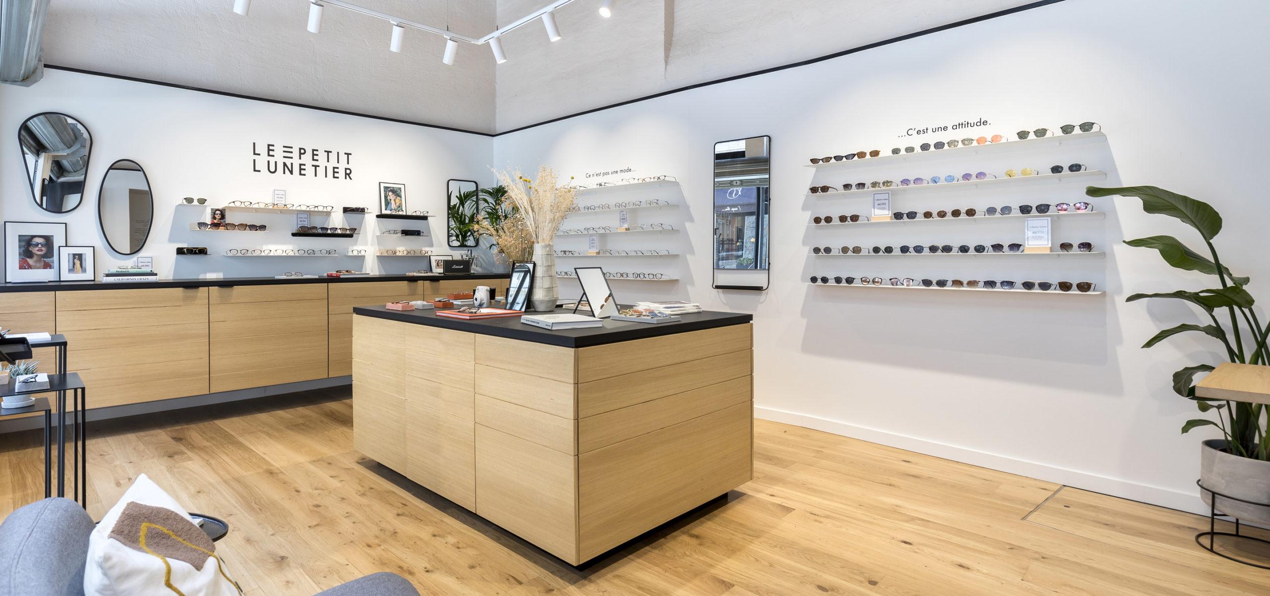 Label Experience : vue d'ensemble de la boutique de lunettes Le Petit Lunetier à Lille