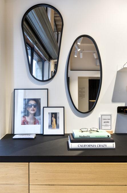 Label Experience : focus sur les miroirs de la boutique de lunettes Le Petit Lunetier à Lille