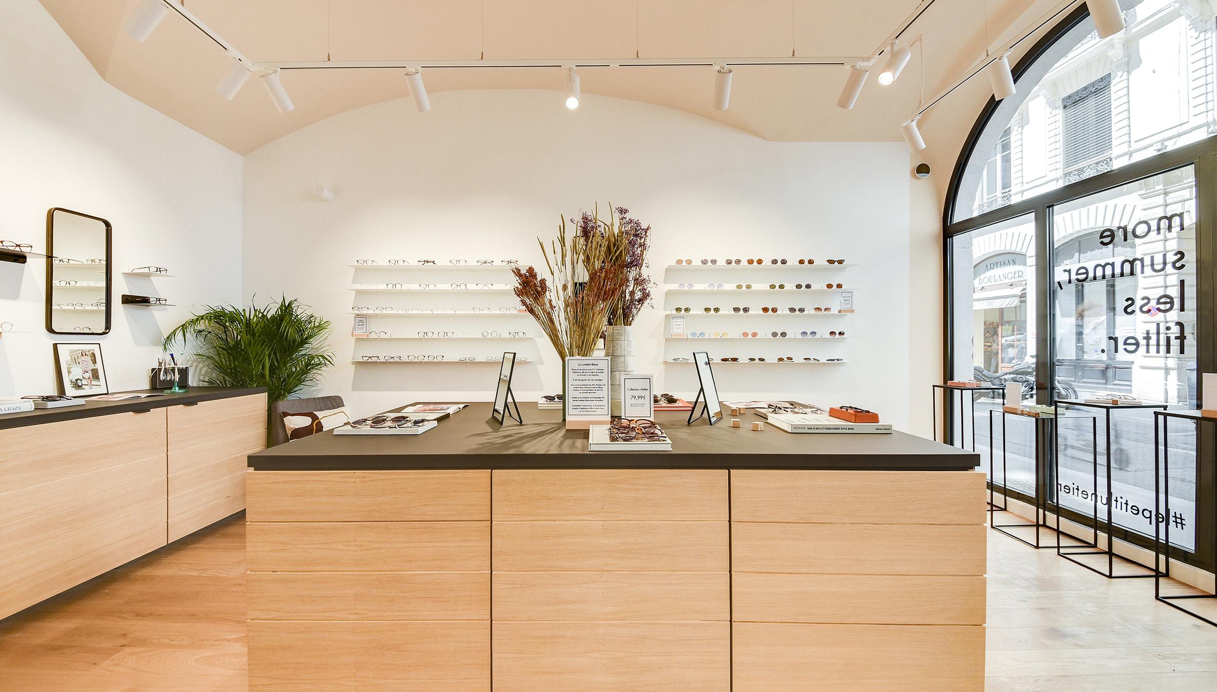 Label Experience : vue d'ensemble de la boutique de lunettes Le Petit Lunetier à Lyon