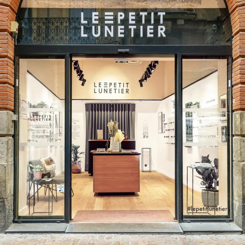 Label Experience : devanture de la boutique de lunettes Le Petit Lunetier à Toulouse