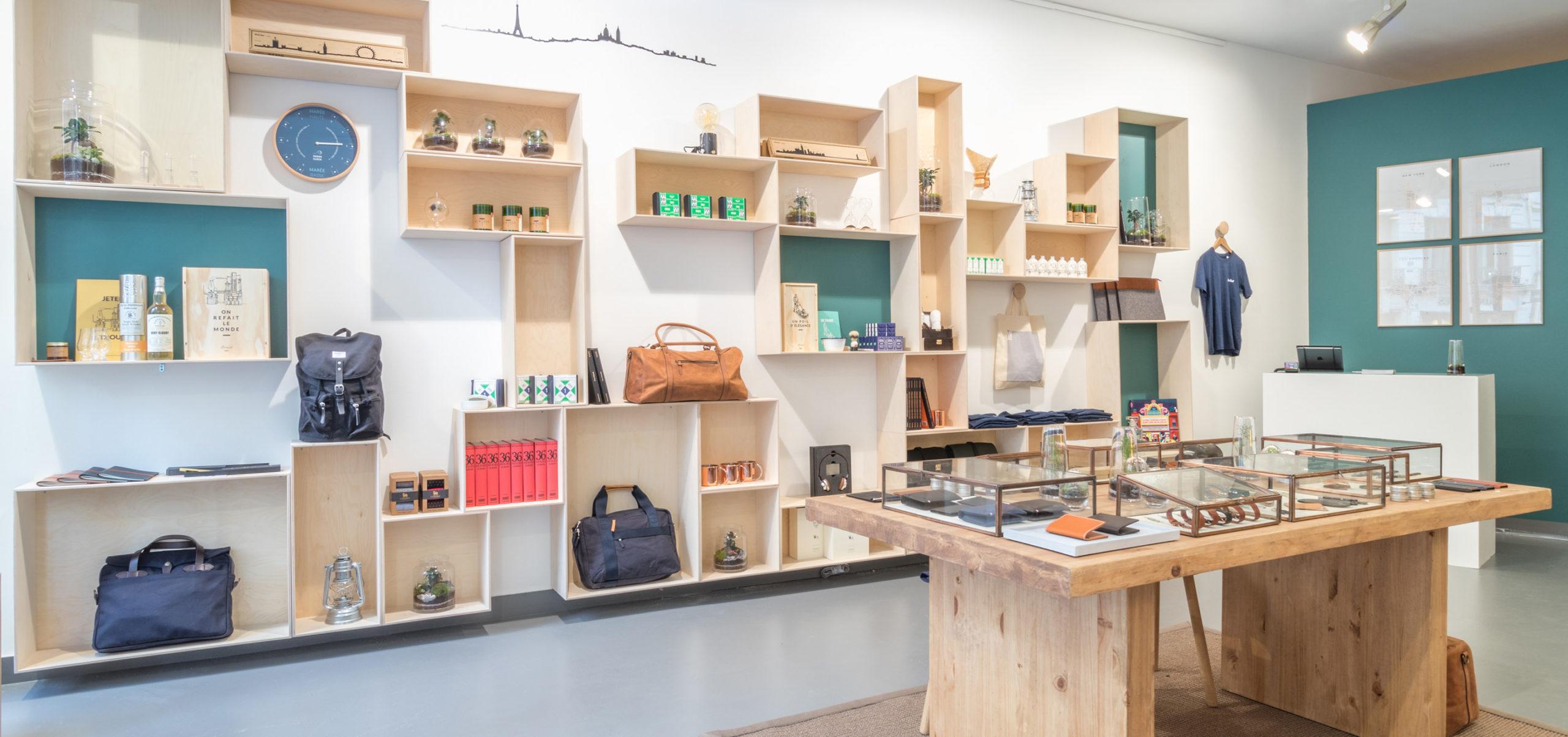 Label Experience: Point de vue panoramique du pop-up store « Raffineurs » à Paris.