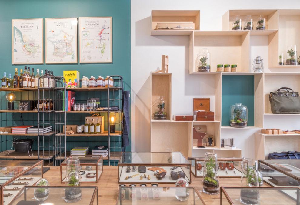 Label Experience: Exposition des différents produits du pop-up store « Raffineurs » à Paris.