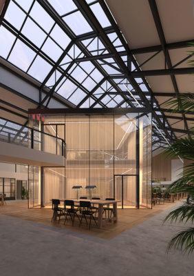 Label Experience : vue de l'espace principal du MoHo, un tiers lieu dédié à l'innovation à Caen