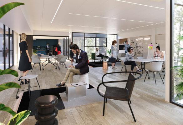 Label Experience : vue d'un des open spaces du MoHo, un tiers lieu dédié à l'innovation à Caen