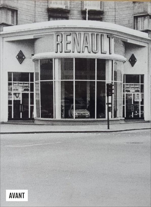 Label Experience : photo de l'ancienne façade du MoHo lorsque c'était encore un garage Renault, avant la 2e Guerre mondiale