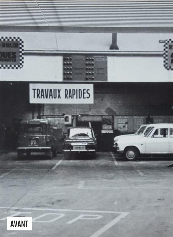 Label Experience : photo de l'ancien intérieur du MoHo lorsque c'était encore un garage Renault, avant la 2e Guerre mondiale