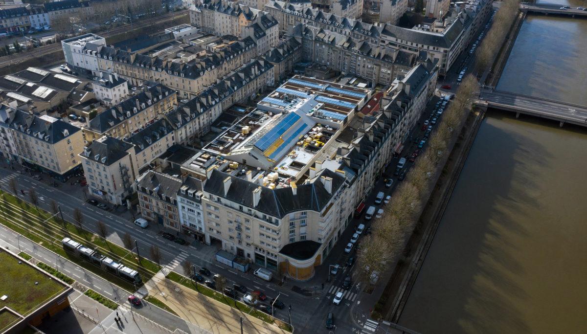 Label Experience : vue du haut de l'extérieur du MoHo, un tiers lieu dédié à l'innovation à Caen