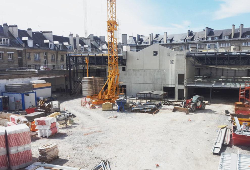 Label Experience : vue du chantier en construction extérieur du MoHo