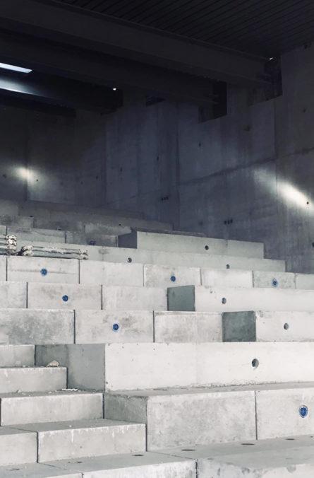 Label Experience : amphithéâtre en construction du MoHo