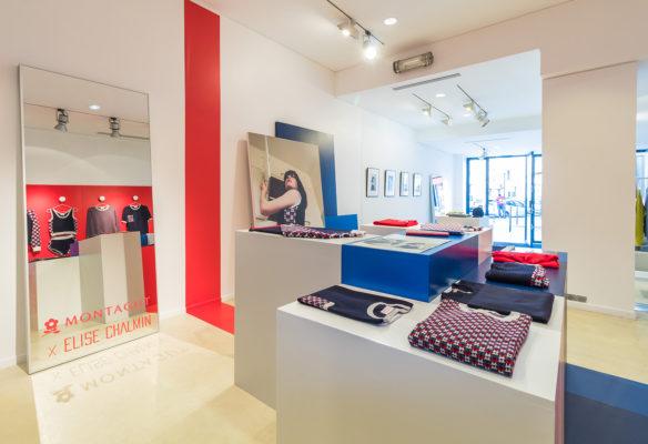 Label Experience: Point de vue global du pop-up store « Montagut » à Paris.