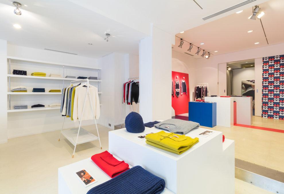 Label Experience: Prisse de vue panoramique du pop-up store « Montagut » à Paris.