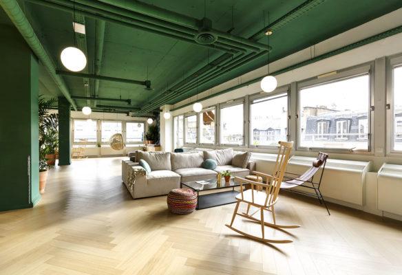 Label Experience: Grand espace de détente l'espace coworking « Morning » Monceau à Paris.